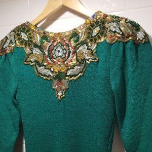 Pat Sandler Bibbed Sweater Dress